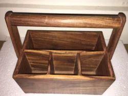 Wooden Cutlery Basket