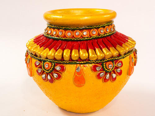 Roop Rachana Ceramic Hand Painted Pot Handicraft Items