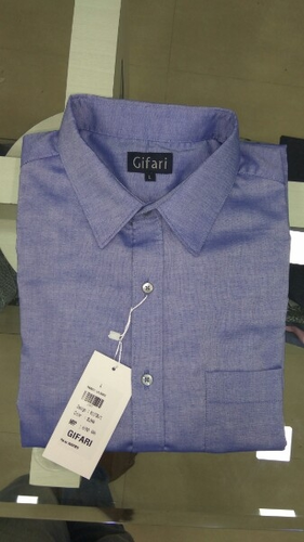 Male Casual , Formal Wear Blue Cotton Shirt