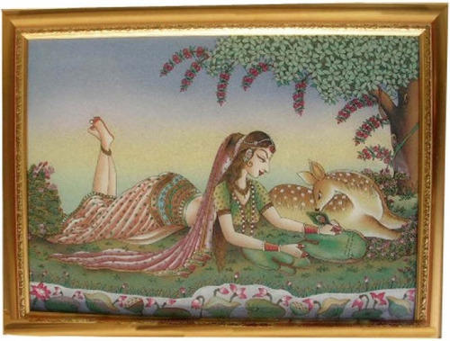Isha Art Wood Hand Made Painting, Size: 6x8 Inches