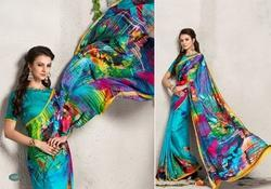 Indian Digital Printed Georgette Saree