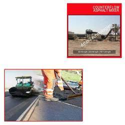 Counterflow Asphalt Mixer for Road Construction
