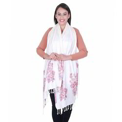 Viscose Yarn Border Ladies Shawls