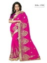 Cotton Embroidered Latest Designer Sarees With Blouse Piece