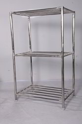 Polished Stainless Steel Racks