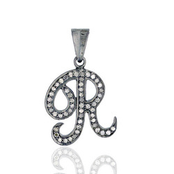 Alphabet R Diamond Pendant