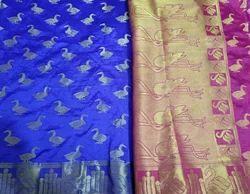 Party Wear Silk Designer Saree, With Blouse Piece