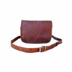 Leather Landscape Curve Bag
