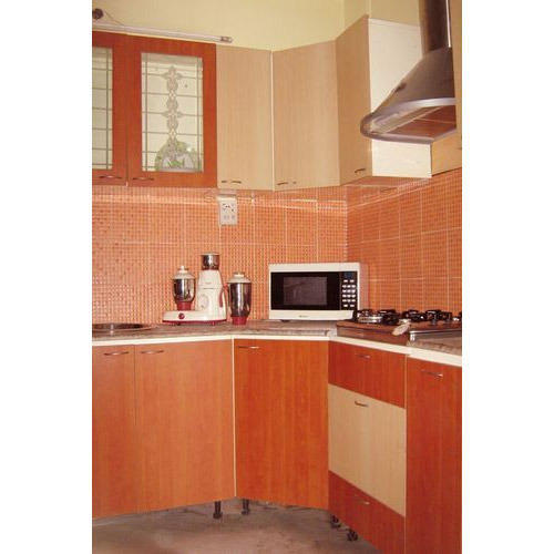 L Shaped Small Modular Kitchen At Rs 77000 /unit