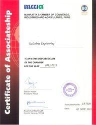 MCCIA Certificate