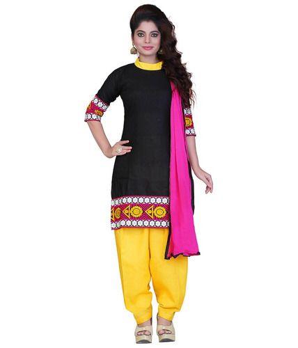 e02a6c52f2 Cotton Black And Yellow Designer Salwar Ladies Suit, Rs 1945 /piece ...