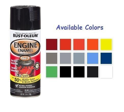 Black Rust Oleum Automotive Ceramic Engine Enamel Spray