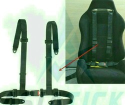 Raily type seat belts for cars