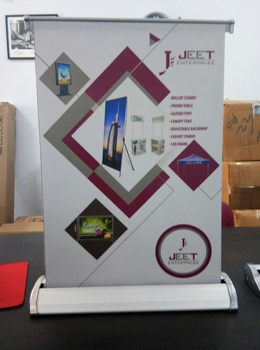 Silver Aluminium Body Roll Up Stand, Size: A4, A3, For For Advertising