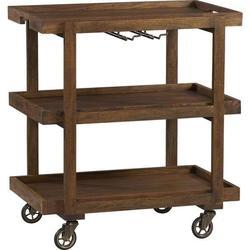 Wooden Bar Cart With Wheels