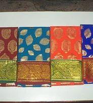 Gold Print Saree
