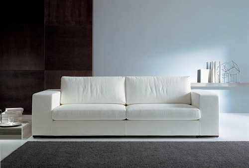 White Leather Sofa Set Rs 30000 Piece