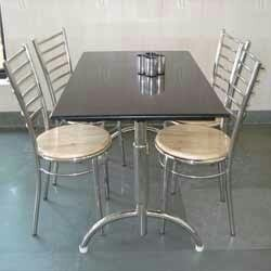 Attrayant Stainless Steel Dining Table Chairs