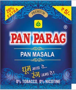 Image result for pan parag pan masala photo [object object] अजमेर की लेब में पान पराग का सैम्पल फेल,स्वास्थ्य विभाग ने माल  किया सीज pan parag 500x500