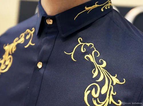 Designer Mens Shirt Embroidery Embroidery Work On Shirt Dahisar