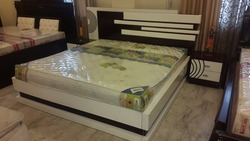 Designer Bed with Side Tables