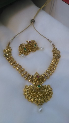 Wholesale sellers of cz jhumkas 1 gram gold necklace set by ramesh product image read more 1 gram gold necklace set aloadofball Image collections