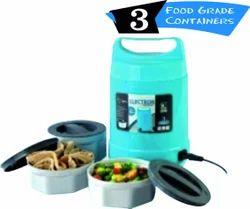 Plastic Tiffin Box, 3 Food Grade Storage Container ( Electron )