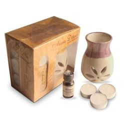 Gift Set with 3 Tealights and Aroma Oil