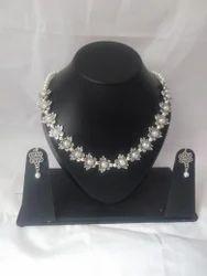 Kundan Handikrafts Silver Designer Handmade Necklace, Packaging Type: Box