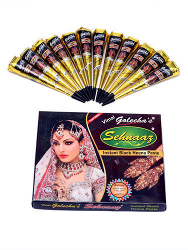 Golecha Sehnaaz Instant Henna Paste Cone Black Color Tattoo At Rs