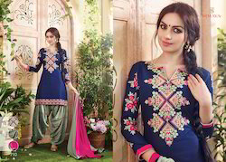 Cotton Embroidered Fancy Stylish Salwar Suit