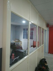 Aluminum With Glass Office Partition