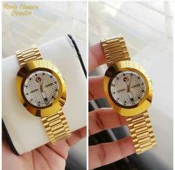 Men Oval Rado Diastar Wrist Watch, For Personal Use