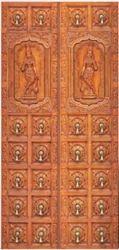 Pine Wood Carving Door