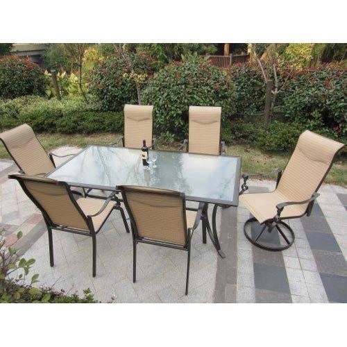 Aluminum Outdoor Dining Table And Chair Set Garg Metals Jaipur