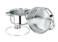 Steamer with Glass Lid