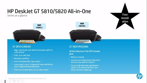 HP Inkjet Gt 5810 All In One Tank Printer