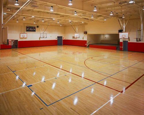 Indoor Basketball Court Size Area 100 Feet X 50 Feet Id 11413731812