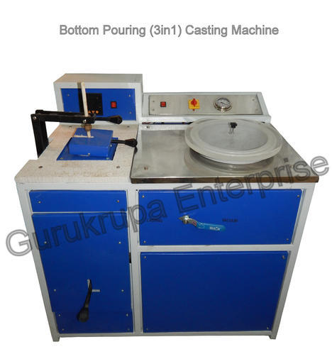 Jewellery Casting Machines Bottom Pouring Jewellery Casting Machine Manufacturer From Rajkot