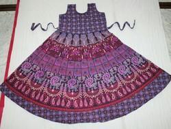 Purple Jaipuri Frock