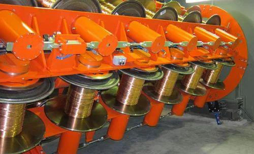 Rigid Type Flat Steel Wire Armoring Machine