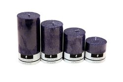 4 No. Marble Candle Lavender