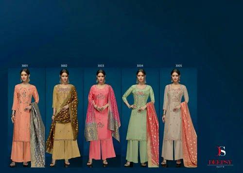 Upada Silk Ladies Embroidery  Suit