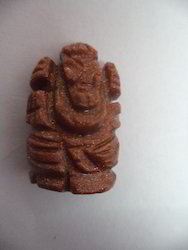 Ganesha Idol of Natural Sunstone