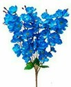 Artificial blue flower blossom