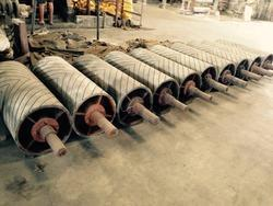 Conveyor Drum Pulley With Rubber Lagging