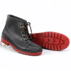 Black Mangla PVC Ankle Boot for Industrial