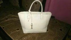 White Leather Ladies Handbag