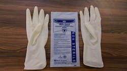 Off White Non Sterile Surgical Gloves