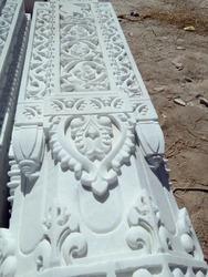 Temple Work In Makrana White Marble